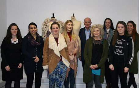 Eddie Shanahan From The Council Of Irish Fashion Designers Visits St Angela S College