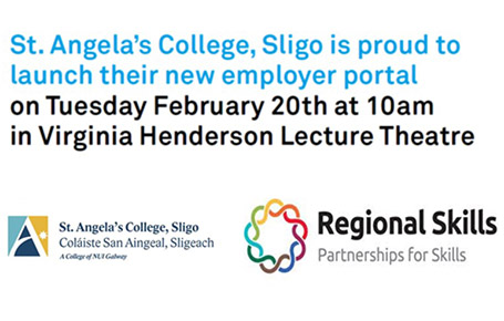 St. Angela's College To Launch New Employer Portal on Tuesday February 20th at 10am