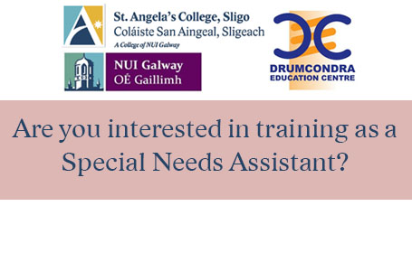 Applications now open for training as a Special Needs Assistant