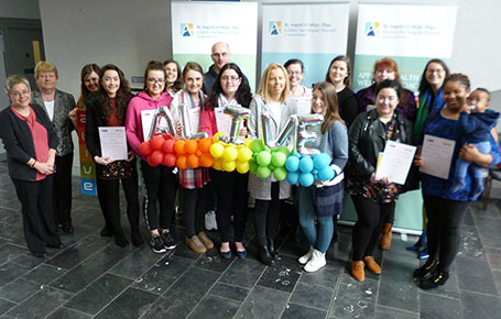 Students at St. Angela's  College receive President's Award for Volunteering ALIVE Certificate