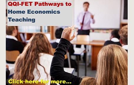 QQI-FET Pathway to Home Economics Teacher Education (entry September 2021)